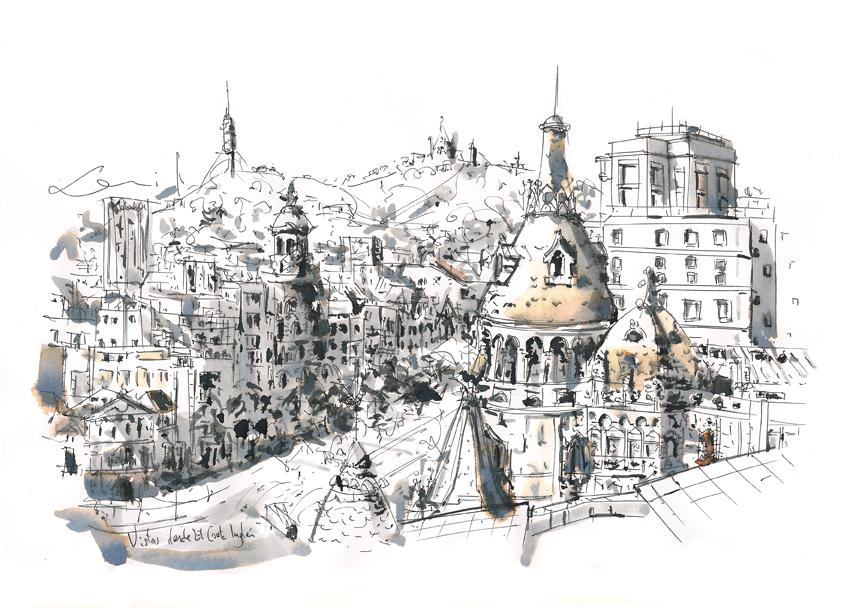 Vistas desde El Corte Ingles, Paseo de Gracia