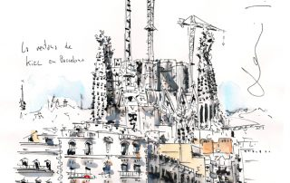 La ventana de Kiel en el eixample de Barcelona_dibujado y sombreado con tinta china
