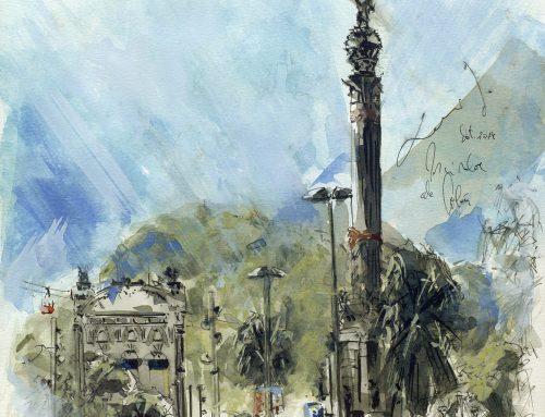 Una visión más pictórica: Monumento de Colón en Barcelona
