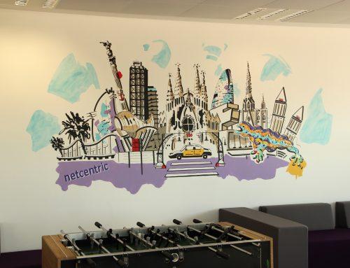 Un mural en la empresa Netcentric