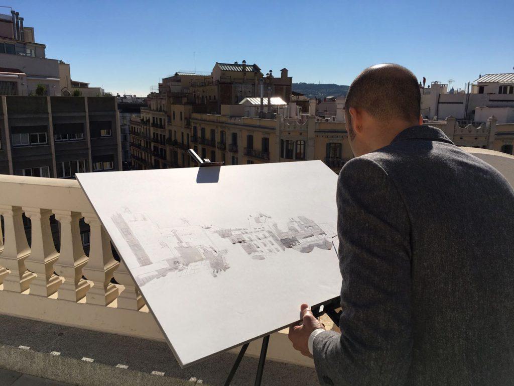 xavi-julia-barcelonink-dibujando-azotea-pompeu-fabra-culthunting