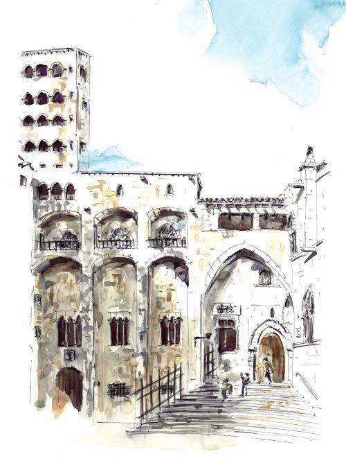 plaza-rey-barcelona-dibujo-barcelonink
