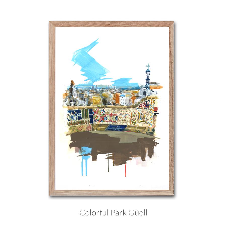 colorful-park-guelll-enmarcado-con-texto