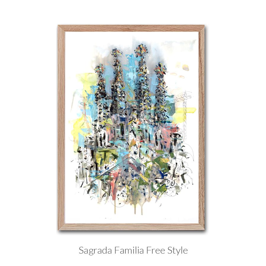 sagrada-familia-free-style-enmarcado-con-texto